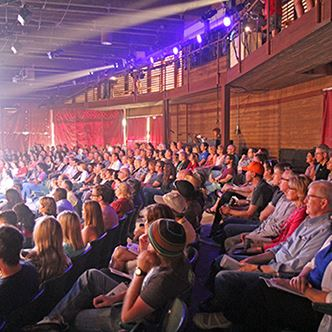 Image of audience in the Alma Theater