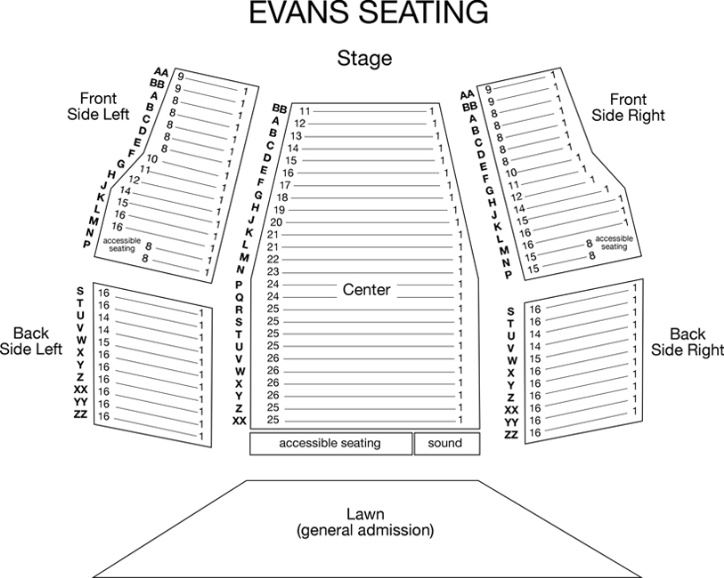 Evans Seating Chart Opens In New Window