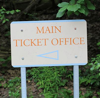 Image of Main Ticket Office sign