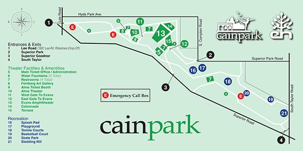 Directions & Maps | Cleveland Heights Cain Park, OH on